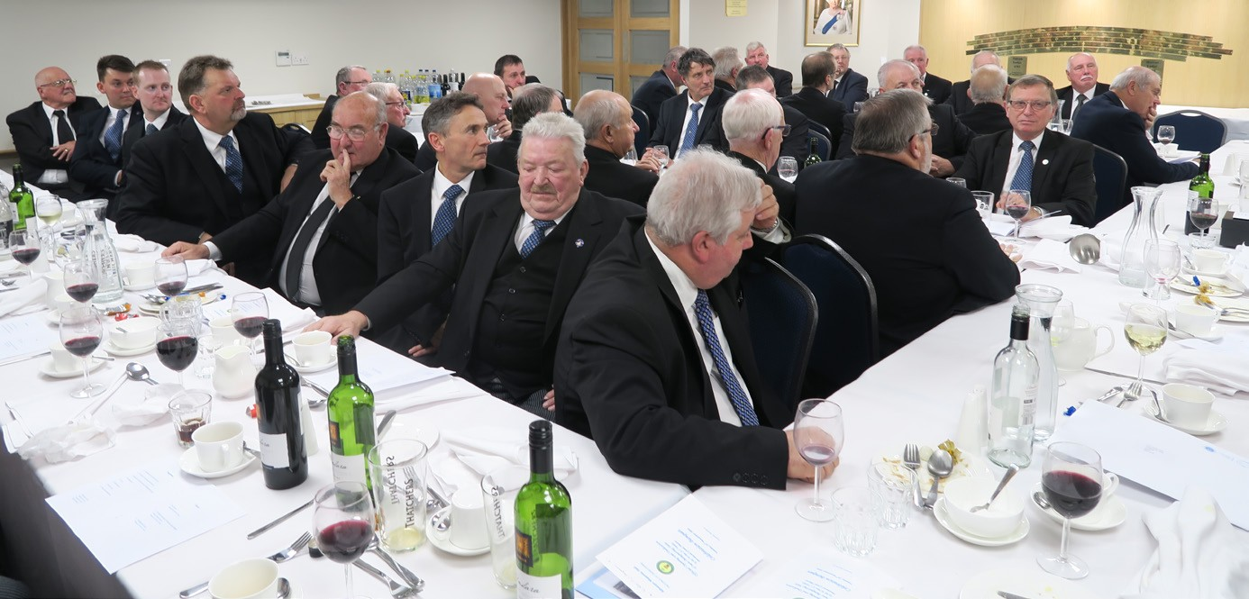 RW PGM at the opening of the new dining hall at Alfreton Masonic Hall