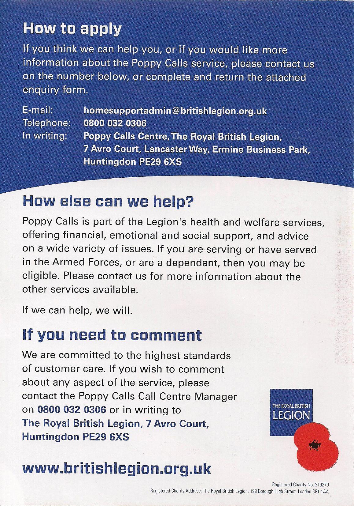 Royal British Legion Handyperson Service