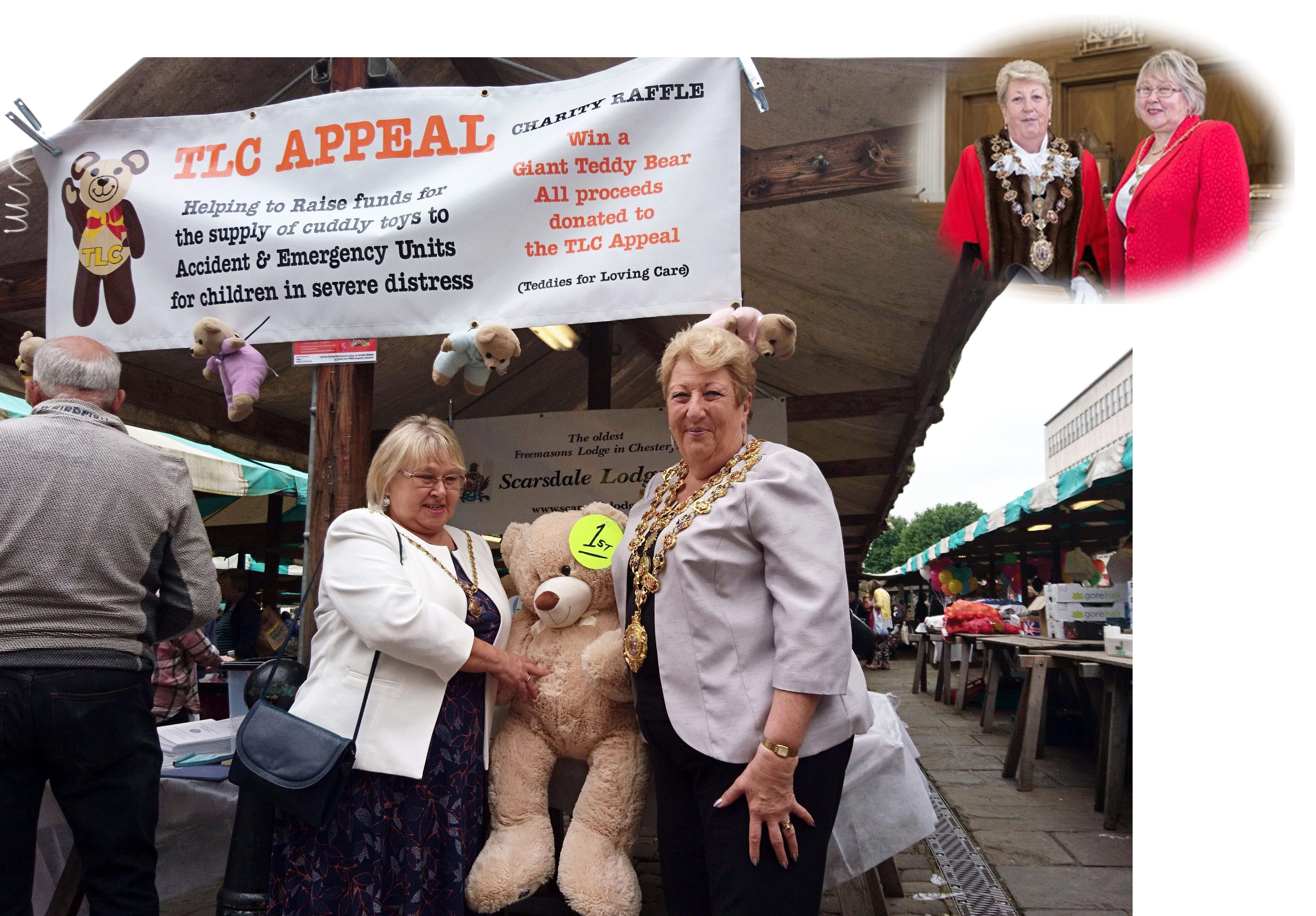 Chesterfield Medieval Market - Scarsdale Lodge 681 - Teddies For Loving Care
