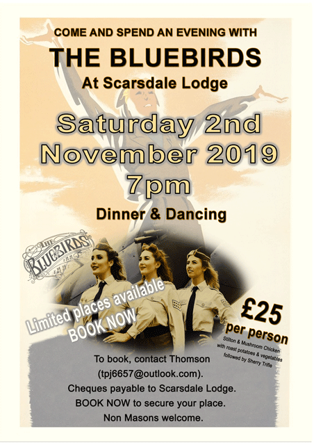 The Bluebirds at Scarsdale Lodge November 2 2019